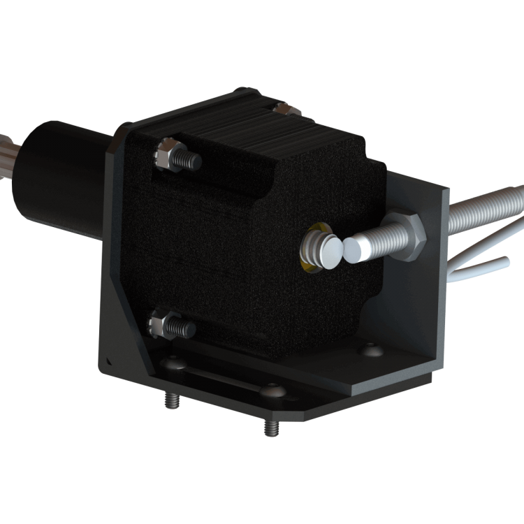 Linear hybrid stepper motor actuator along with the sensor center sensor