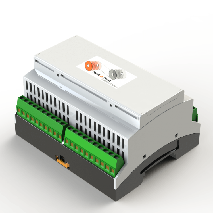 Sensor and web guide controller with DIN rail mounting option